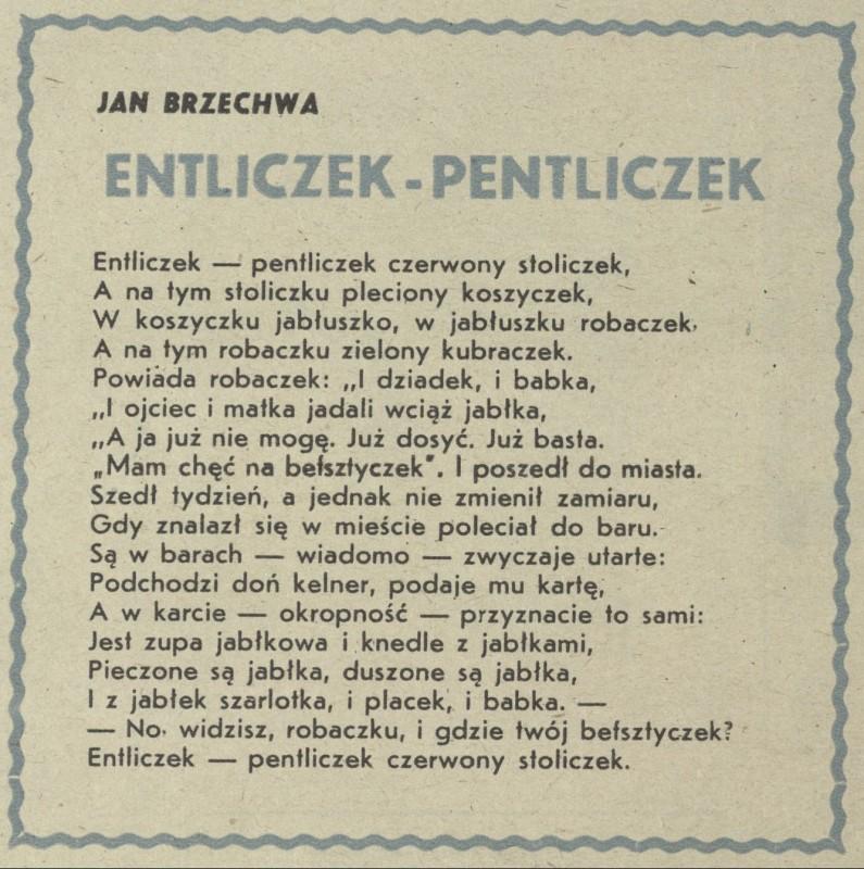 Entliczek Pentliczek 4 Listopada 1945 Archiwum