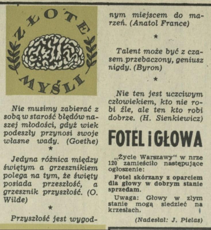 Złote Myśli 3 Czerwca 1956 Archiwum Kwartalnik Przekrój