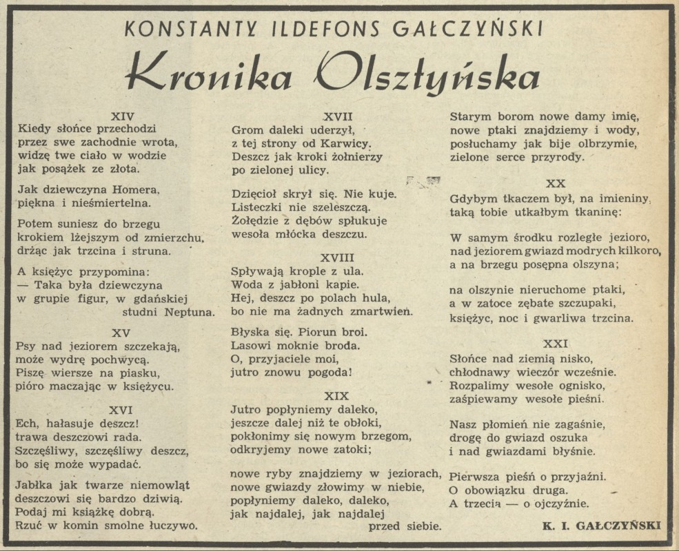 Kronika Olsztyńska 4 January 1953 Archiwum Przekrój