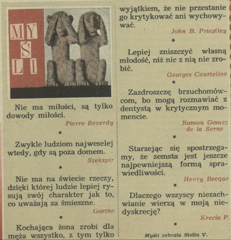 Myśli 21 March 1971 Archiwum Przekrój Magazine