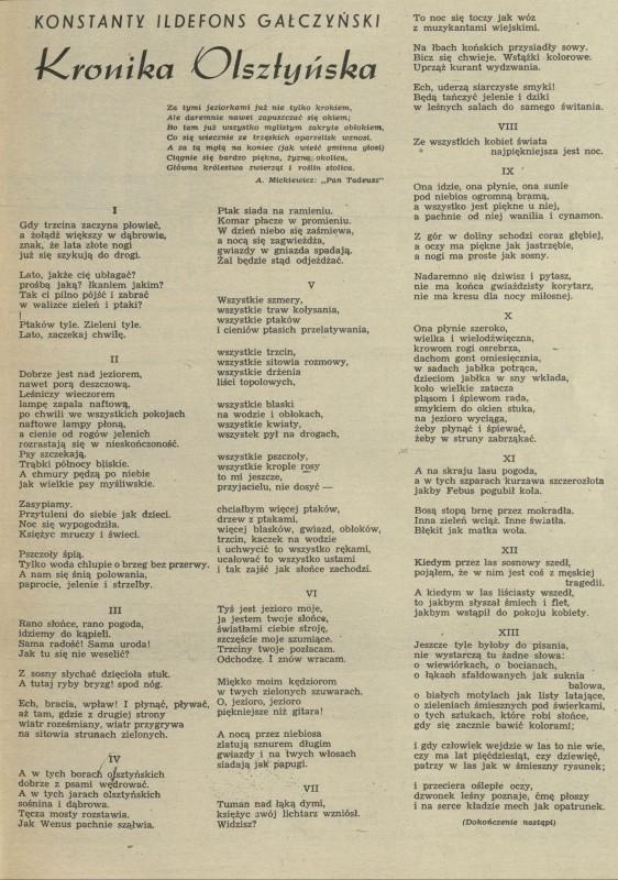 Kronika Olsztyńska 1 December 1952 Archiwum Przekrój