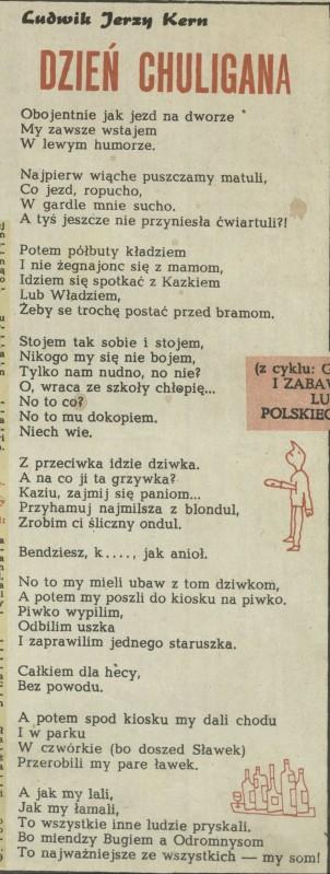 Dzień Chuligana 3 Listopada 1963 Archiwum Kwartalnik