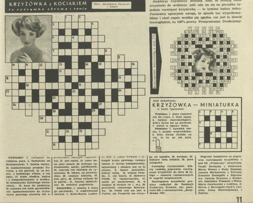Krzyżówka Z Kociakiem 21 February 1960 Archiwum