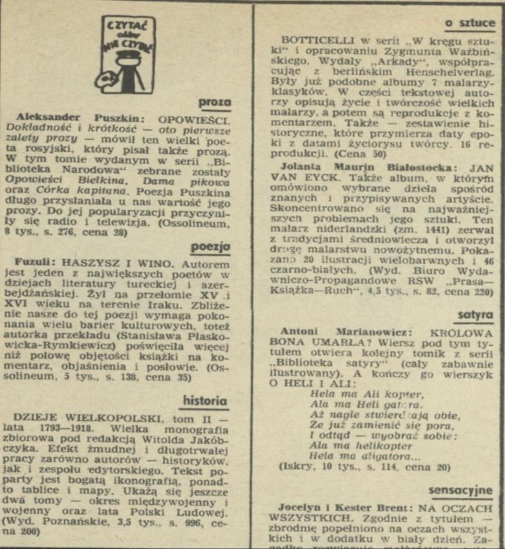 Czytać Albo Nie Czytać 6 January 1974 Archiwum