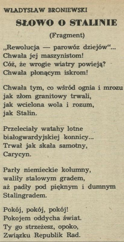 Słowo O Stalinie 1 May 1950 Archiwum Przekrój Magazine