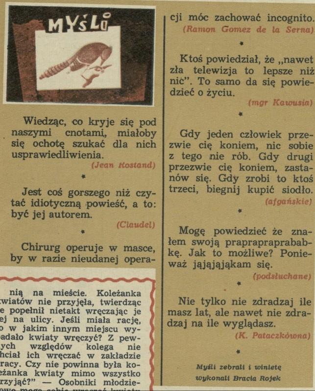 Myśli 21 December 1969 Archiwum Przekrój Magazine