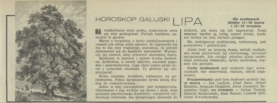 Horoskop galijski