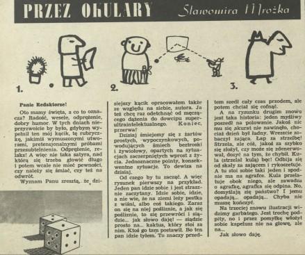 Rubryka Przez Okulary Sławomira Mrożka Archiwum Rok 1961