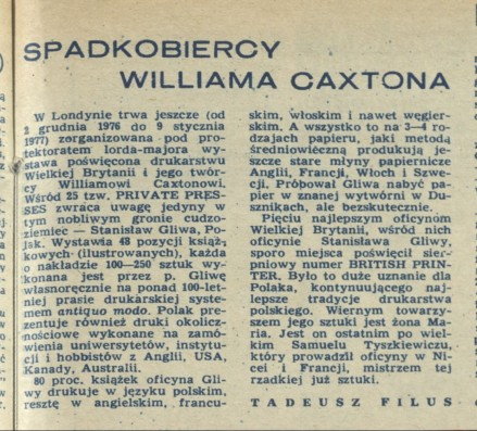Spadkobiercy Williama Caxtona