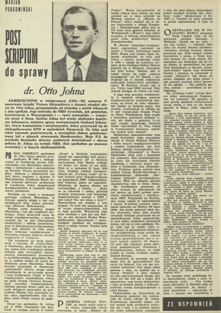Post scriptum do sprawy dr Otto Johna