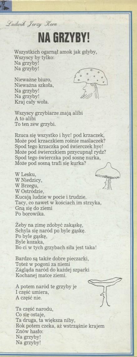 Litery i charaktery (27 August 1995) - Archiwum - Przekrój Magazine