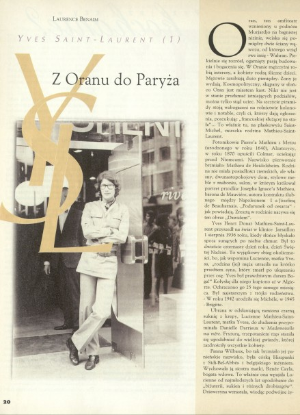 Yves Saint-Laurent. Z Oranu do Paryża