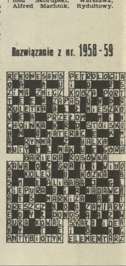 Rubryka Krzyżówka Z Kociakiem Archiwum Rok 1983