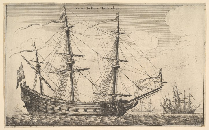 Wenceslaus Hollar (1647) Naues Mercatoriæ Hollandicæ per Indias Occidentales/ zbiory Met Museum