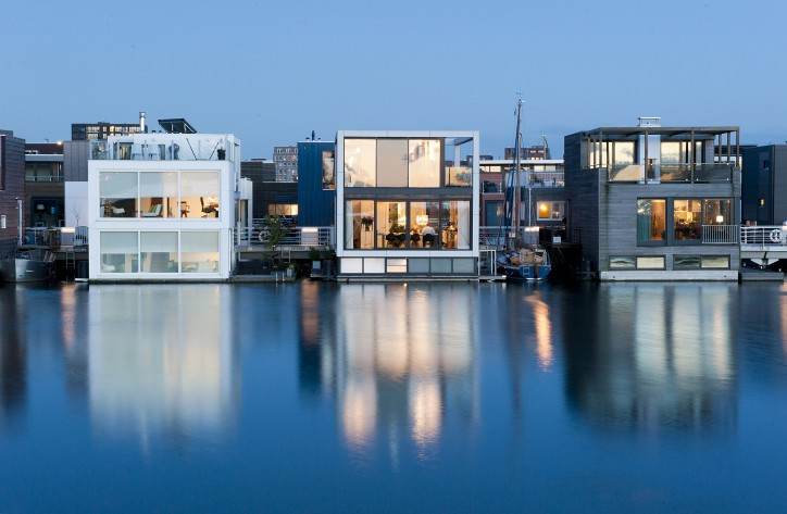 Villa IJburg in Amsterdam. Photo: Architect Koen Olthuis, Waterstudio.NL