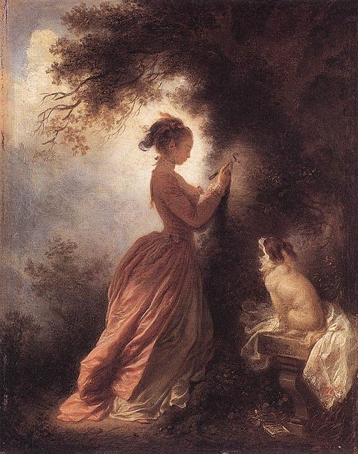 """The Souvenir"", Jean-Honoré Fragonard, 1775-1778"