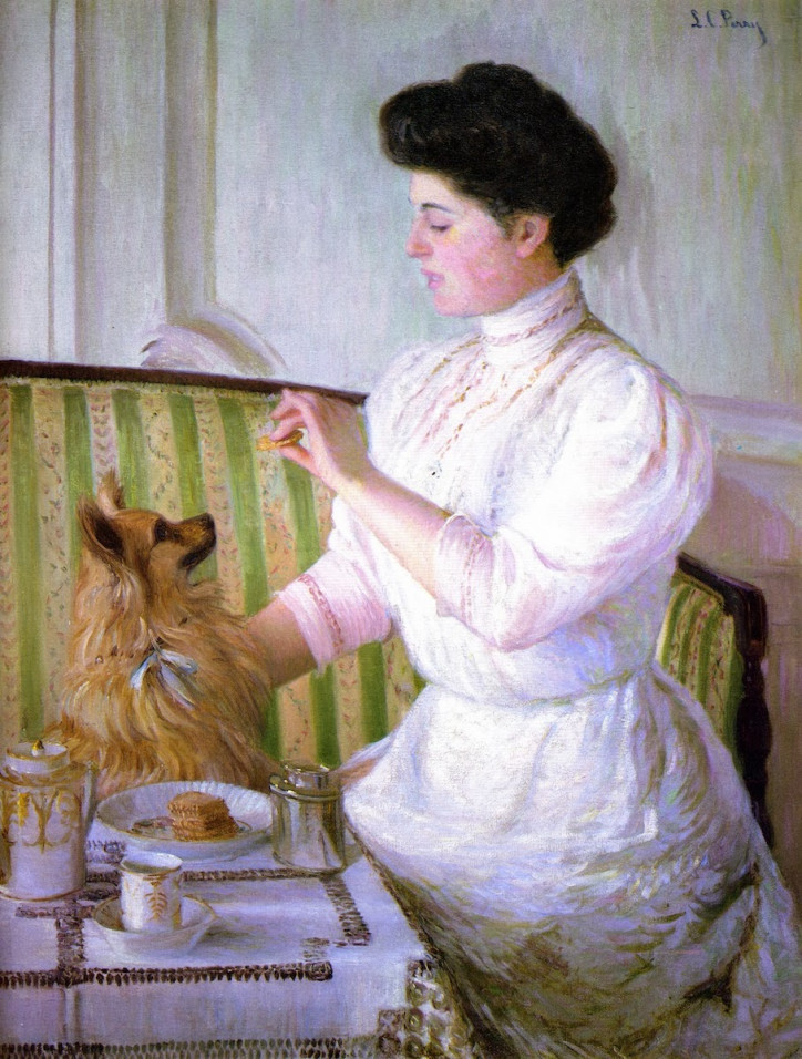 "Lilla Cabot Perry, ""Lady at the Tea Table"""