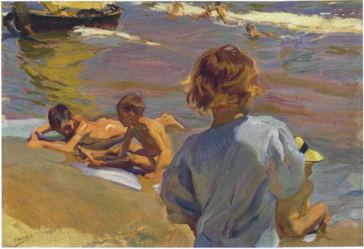 """Children on the Beach, Valencia"", Joaquín Sorolla, 1916"