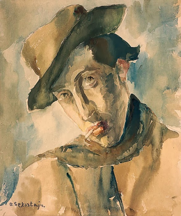 """Gela Seksztajn """"Portret mężczyzny w kapeluszu"""""""