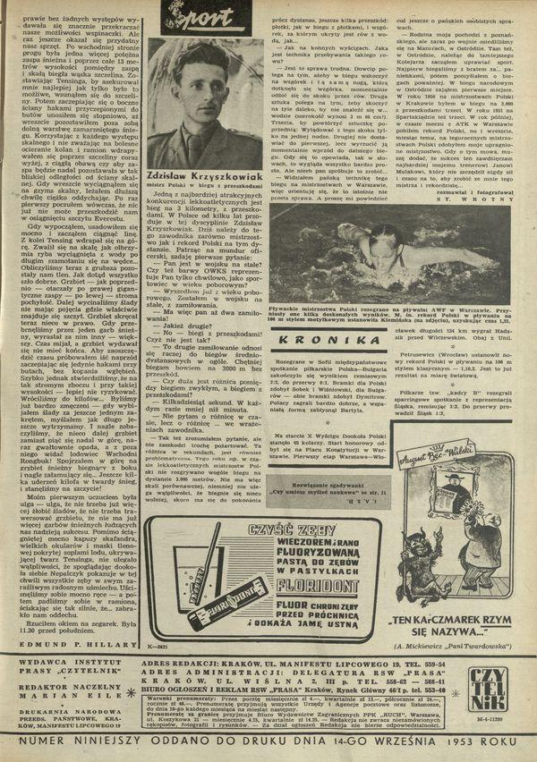 Numer 441 (20 September 1953), str  14–15 — Archiwum