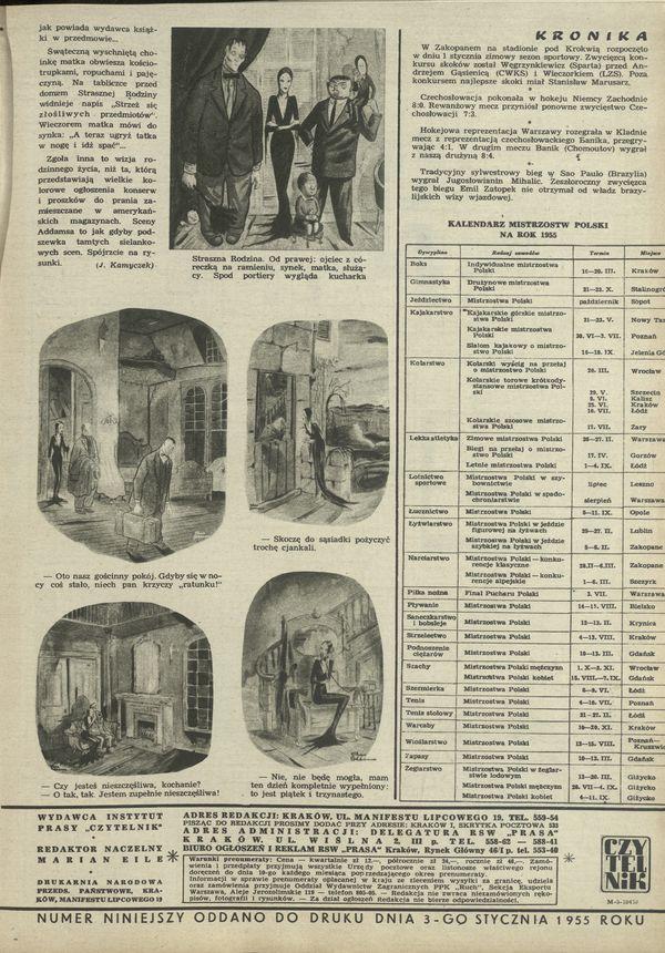 Numer 509 (9 January 1955), str  14–15 — Archiwum - Przekrój Magazine