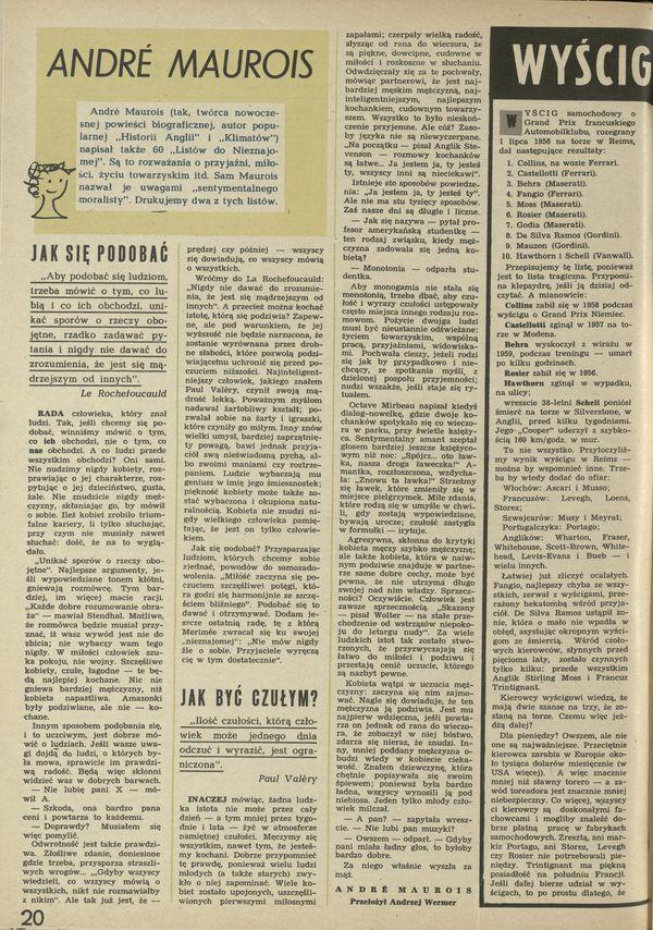 Numer 792 (12 June 1960), str. 20–21 — Archiwum Przekrój
