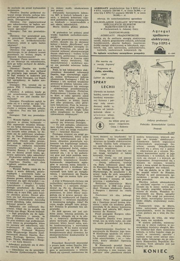 Numer 798 22 July 1960 Str 1415 Archiwum Przekrój