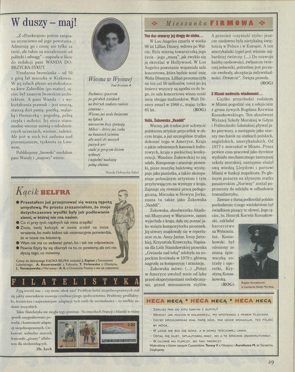 Numer 2760 17 May 1998 Str 2829 Archiwum Przekrój