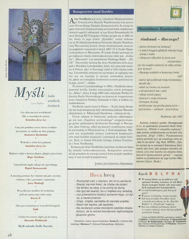 Numer 2854 5 March 2000 Str 2829 Archiwum Przekrój